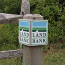 Nantucket Land Bank Sign Post